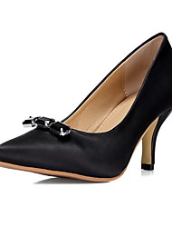 Women's High-Heels Soft Material Solid Pull-on Pointed Closed Toe Pumps-Shoes
