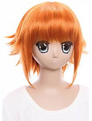 The New Wig The Idol Dream Star Aung Flow Orange Against Become Warped Hair 8 Inch Cosplay Wig