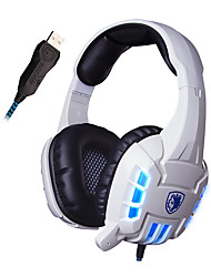 Sades SA-718s USB Wired Stereo Surround Lightweight PC Gaming Headphone with Microphone and Vibration Led Lights