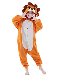 Kigurumi Pyjamas New Cosplay® / Löwe Gymnastikanzug/Einteiler Halloween Tiernachtwäsche Orange einfarbig Polar-Fleece Kigurumi Kind