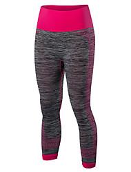 Mujer Pantalones ajustados de running Secado rápido Compresión Cómodo 3/4 Medias/Corsario Leggings para Yoga Ejercicio y Fitness