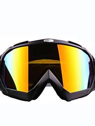 les hommes et les femmes de ski lunettes / lunettes d'alpinisme / à double couche anti-buée miroir sphérique du vent (xq-hd)