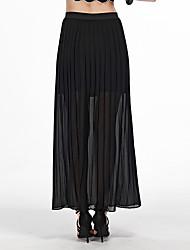 Damen Röcke - Einfach Maxi Polyester Unelastisch
