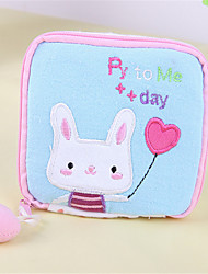 South Korea Cute Cartoon Fabric Health Cotton Bag Sanitary Napkins Aunt Pocket Bag Handbag Bag