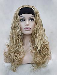 La moitié perruque Perruques pour femmes Doré Perruques de Costume Perruques de Cosplay
