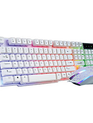 2000Dpi Wired  USB Game Keyboard & Mouse Suit With LED