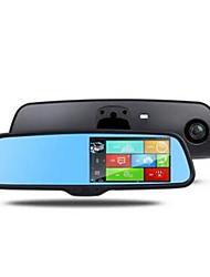 visão espelho HD 1080p noite de 5 polegadas monitoramento revertendo três em um carro de condução espelho gravador