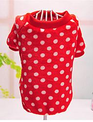 Hunde Pullover Rot / Rosa / Purpur / Orange Hundekleidung Winter / Frühling/Herbst einfarbig / Gepunktet Lässig/Alltäglich Other