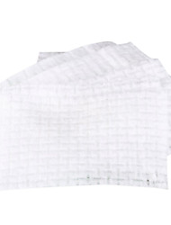 Fenlin ® 500 Piece Non-Woven Fabric Plaid Pressed Pearl White Cotton Pads