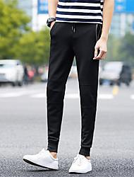 Pantalon de Sport Pour des hommes Couleur plaine Décontracté / Sport Polyester Noir