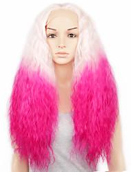 avant que les perruques de cheveux de dentelle pour les femmes de sexe synthétique perruque de cheveux bouclés petite dentelle devant