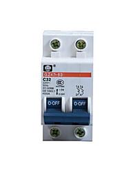 disjoncteur miniature (modèle: DZ47-63 2p, disjoncteur courant nominal: 10a)