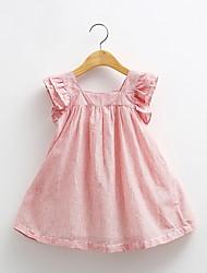 Baby Doll Dress New Girls Striped Dress Wood Ear