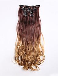 A Clipser Synthétique Extensions de cheveux 130 60CM Extension des cheveux