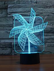 grande cata-vento toque escurecimento 3D conduziu a luz da noite 7colorful decoração atmosfera lâmpada de iluminação novidade luz de Natal
