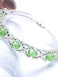 Strand Bracelets 1pc,Red / Green Bracelet Fashionable Circle 514 Crystal Jewellery