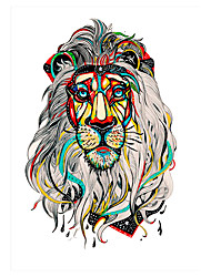 5pcs Elephant Lion Pattern Decal Temporary Waterproof Tattoo Sticker for Women Men Body Art