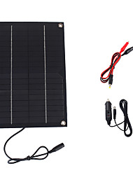 6W 18V Portable Monocrystalline Solar Panel Car Automobile Rechargeable Power Battery Charger (SWR6018C)