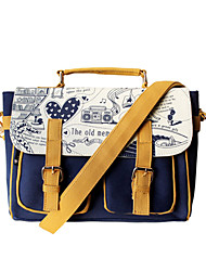 Flower Princess® Women PU / Canvas Shoulder Bag Blue-YD1213002
