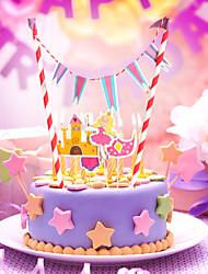 Aniversário Festa Tableware-1Peça/Conjunto Acessório para Bolo Marcador Cartão de Papel Duro Tema rústico Other Não-Personalizado