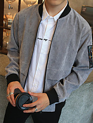 Men's Long Sleeve Casual / Work / Formal / Sport / Plus Sizes Jacket,Polyester / Nylon Print