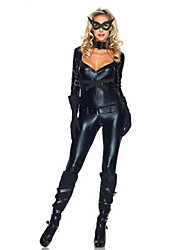 Costumes Warrior / Super Heroes Girls Halloween / Christmas / Carnival Black Patent Leather Leotard Belt / Zentai