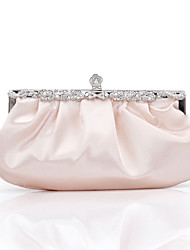 L.WEST Women's Handmade Flower Ruffles Evening Bag