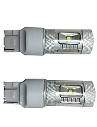 2 pcs seção destaque 30w 6 chip para corolla carro especial levou virar lâmpada de sinal, luz de freio do carro, carro lâmpada de back-up