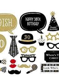 20 Pcs Party Photo Booth Props Birthday Party MasksCool Costume Makeup For Men's 30th Birthday