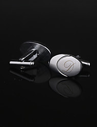 Gift Groomsman Personalized Oval Cufflinks - Initial