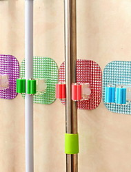 Powerful Magic Mop Sucker Hook Seamless Broom Mop Rack Deck Crystal Clip (Random Color)