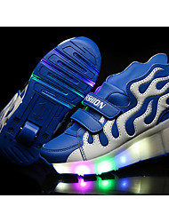 LED Light Up Shoes, Boy's Flats Summer Roller Skate Shoes PU Casual Flat Heel Blue / Yellow / Red Others