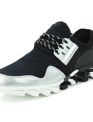 Men's Sneakers Spring / Fall Comfort PU Athletic / Split Joint / Lace-up Black / Silver / Black and White Sneaker
