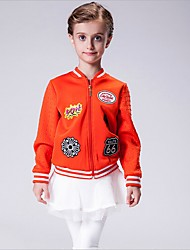 Girl's Sports Print Blouse,Polyester Winter / Fall Black / Orange