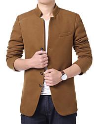 Men's jacket winter wool coat short woolen coat slim young mens jacket windbreaker size.