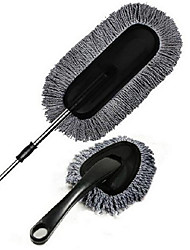 cinza cera escova dois conjuntos de nanofios terno carro de cera de limpeza retrátil cera de carro duster