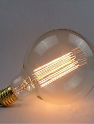 E27 40W G125 Straight Wire Large Bulb Edison Retro Decorative Light Bulbs