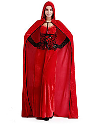 Cosplay Costumes Princess / Fairytale Movie Cosplay Red Solid Dress Halloween / Christmas / New Year Female Polyester