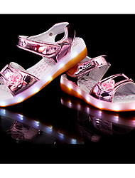 LED's Shoes Girl's Sandals Summer Sandals PU Casual Flat Heel LED Black / Pink / Silver / Gold Others