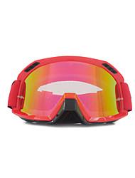 gafas de motocross rojos