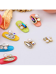 5PCS Nail Art  Melon Seeds  Alloy Act The Role Ofing Is Tasted Long Water Droplets Dazzle Colour Nail Art All Posted