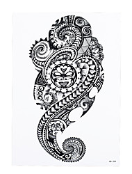 1pc Waterproof Classic Black Geometry Totem Tattoo Design Women Men Body Arm Art Temporary Tattoo Sticker HB-399