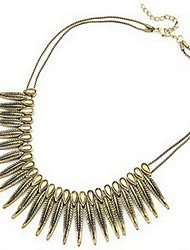 Women's Choker Necklaces Statement Necklaces Circle Feather Alloy Fashion Statement Jewelry Punk Personalized Jewelry For Daily Casual 1pc