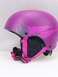 Универсальные шлем Л: 58-61CM Спортивные Ультралегкий (UL) Фиксированный 14 CE EN 1077 Снежные виды спорта / Лыжи ФиолетовыйПоликарбонат