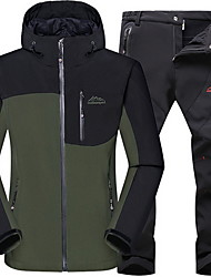Wandern Kleidungs-Sets/Anzüge Unisex Atmungsaktiv / warm halten Herbst / Winter Chinlon Grau / Armeegrün / HellkakiL / XL / XXL / XXXL /