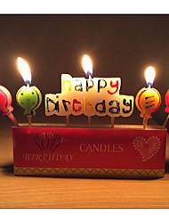 decoração do partido happybirthday velas de aniversário romântico carta balão criativo pequena vela