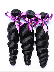 3 Pcs/Lot Loose Wave Human Hair Weaves Indian Texture Big Curly Hair Weaves