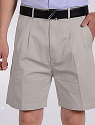 Men's Solid Casual Shorts,Cotton Black / White / Gray