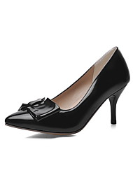 Women's Pull On Patent Leather Pointed Closed Toe Spikes-Stilettos Pumps-Shoes