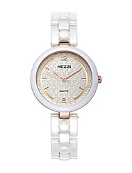 KEZZI® Brand Women's Watch Fashion Dress Wrist Watch new design white color ceramics lady watch 1445